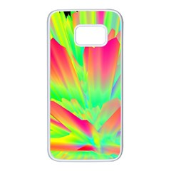 Screen Random Images Shadow Green Yellow Rainbow Light Samsung Galaxy S7 White Seamless Case by Mariart