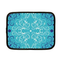 Repeatable Flower Leaf Blue Netbook Case (small)  by Mariart