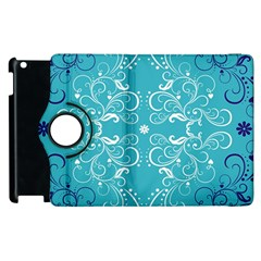 Repeatable Flower Leaf Blue Apple Ipad 2 Flip 360 Case by Mariart