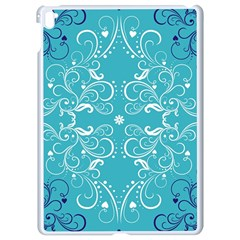 Repeatable Flower Leaf Blue Apple Ipad Pro 9 7   White Seamless Case by Mariart