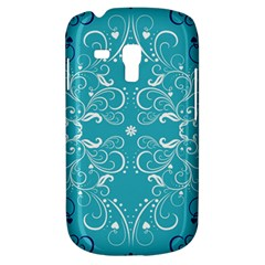 Repeatable Flower Leaf Blue Galaxy S3 Mini by Mariart
