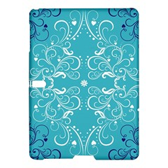 Repeatable Flower Leaf Blue Samsung Galaxy Tab S (10 5 ) Hardshell Case  by Mariart