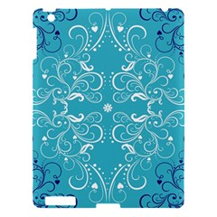 Repeatable Flower Leaf Blue Apple Ipad 3/4 Hardshell Case by Mariart