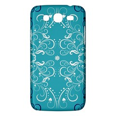 Repeatable Flower Leaf Blue Samsung Galaxy Mega 5 8 I9152 Hardshell Case  by Mariart