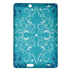 Repeatable Flower Leaf Blue Amazon Kindle Fire Hd (2013) Hardshell Case by Mariart