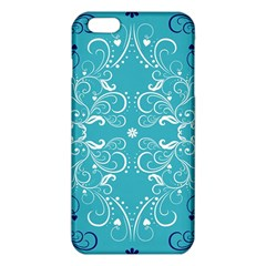 Repeatable Flower Leaf Blue Iphone 6 Plus/6s Plus Tpu Case by Mariart