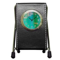 Shadow Faintly Faint Line Green Pen Holder Desk Clocks by Mariart