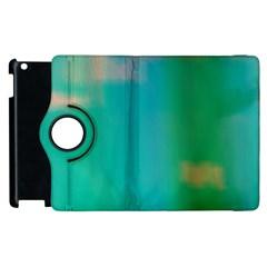Shadow Faintly Faint Line Green Apple Ipad 3/4 Flip 360 Case by Mariart