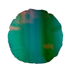 Shadow Faintly Faint Line Green Standard 15  Premium Flano Round Cushions by Mariart