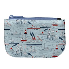 Ships Sails Large Coin Purse by Mariart