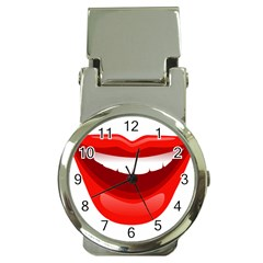 Smile Lips Transparent Red Sexy Money Clip Watches