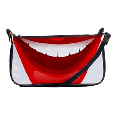 Smile Lips Transparent Red Sexy Shoulder Clutch Bags by Mariart