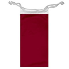 Burgundy Solid Color  Jewelry Bag by SimplyColor