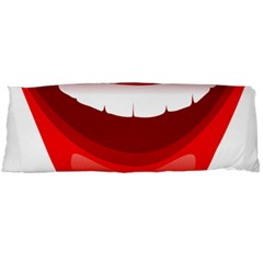 Smile Lips Transparent Red Sexy Body Pillow Case Dakimakura (two Sides) by Mariart