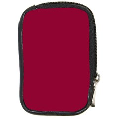 Burgundy Solid Color  Compact Camera Cases by SimplyColor