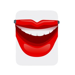 Smile Lips Transparent Red Sexy Apple Ipad 2/3/4 Protective Soft Cases by Mariart