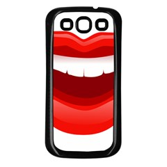 Smile Lips Transparent Red Sexy Samsung Galaxy S3 Back Case (black) by Mariart
