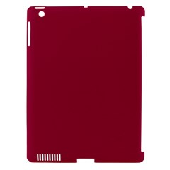 Burgundy Solid Color  Apple Ipad 3/4 Hardshell Case (compatible With Smart Cover) by SimplyColor
