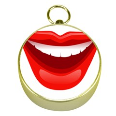 Smile Lips Transparent Red Sexy Gold Compasses by Mariart