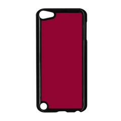 Burgundy Solid Color  Apple Ipod Touch 5 Case (black) by SimplyColor