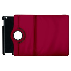 Burgundy Solid Color  Apple Ipad 3/4 Flip 360 Case by SimplyColor
