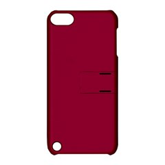 Burgundy Solid Color  Apple Ipod Touch 5 Hardshell Case With Stand by SimplyColor