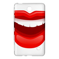 Smile Lips Transparent Red Sexy Samsung Galaxy Tab 4 (8 ) Hardshell Case  by Mariart
