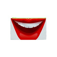 Smile Lips Transparent Red Sexy Cosmetic Bag (xs) by Mariart