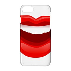 Smile Lips Transparent Red Sexy Apple Iphone 7 Hardshell Case by Mariart