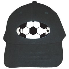 Soccer Camp Splat Ball Sport Black Cap by Mariart
