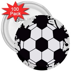 Soccer Camp Splat Ball Sport 3  Buttons (100 Pack)  by Mariart