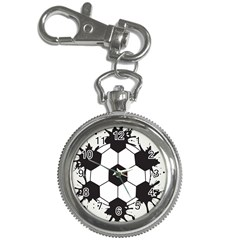 Soccer Camp Splat Ball Sport Key Chain Watches by Mariart