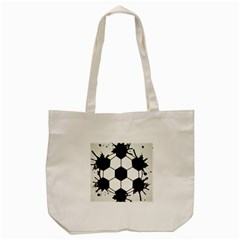 Soccer Camp Splat Ball Sport Tote Bag (cream) by Mariart