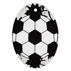 Soccer Camp Splat Ball Sport Oval Ornament (two Sides) by Mariart