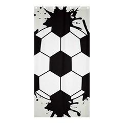 Soccer Camp Splat Ball Sport Shower Curtain 36  X 72  (stall)  by Mariart