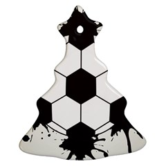 Soccer Camp Splat Ball Sport Christmas Tree Ornament (two Sides) by Mariart