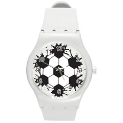Soccer Camp Splat Ball Sport Round Plastic Sport Watch (m) by Mariart