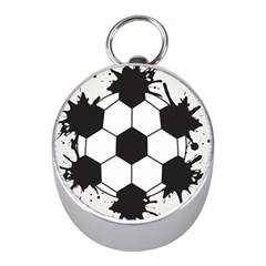 Soccer Camp Splat Ball Sport Mini Silver Compasses by Mariart