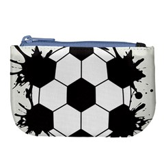 Soccer Camp Splat Ball Sport Large Coin Purse by Mariart