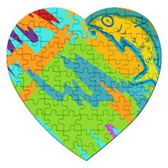 Skatepark Seaworld Fish Jigsaw Puzzle (heart) by Mariart