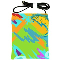 Skatepark Seaworld Fish Shoulder Sling Bags by Mariart