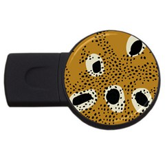Surface Patterns Spot Polka Dots Black Usb Flash Drive Round (4 Gb) by Mariart
