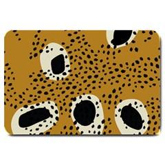 Surface Patterns Spot Polka Dots Black Large Doormat  by Mariart