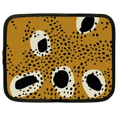 Surface Patterns Spot Polka Dots Black Netbook Case (large) by Mariart
