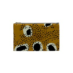 Surface Patterns Spot Polka Dots Black Cosmetic Bag (small)  by Mariart
