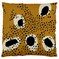 Surface Patterns Spot Polka Dots Black Large Cushion Case (one Side) by Mariart