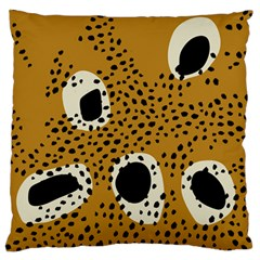 Surface Patterns Spot Polka Dots Black Standard Flano Cushion Case (two Sides) by Mariart