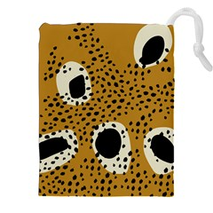 Surface Patterns Spot Polka Dots Black Drawstring Pouches (xxl) by Mariart