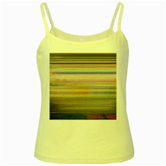 Shadow Faintly Faint Line Included Static Streaks And Blotches Color Yellow Spaghetti Tank by Mariart