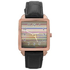 Shadow Faintly Faint Line Included Static Streaks And Blotches Color Rose Gold Leather Watch  by Mariart